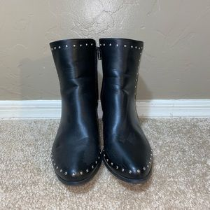 Black Studded Booties